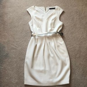 The Limited Cream white structured dress
